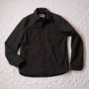 Levis Small Army Green Quilted Jacket Hiking Flaw